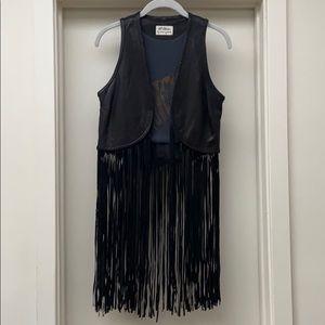 Torn by ronny kobo fringe leather vest
